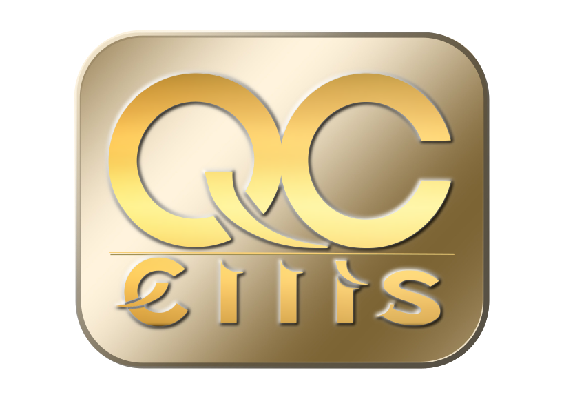 QCEllis logo in gold